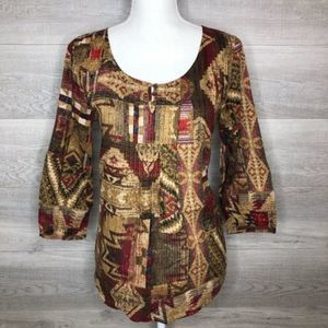 Lightweight Top Ralph Lauren XS Brown Red